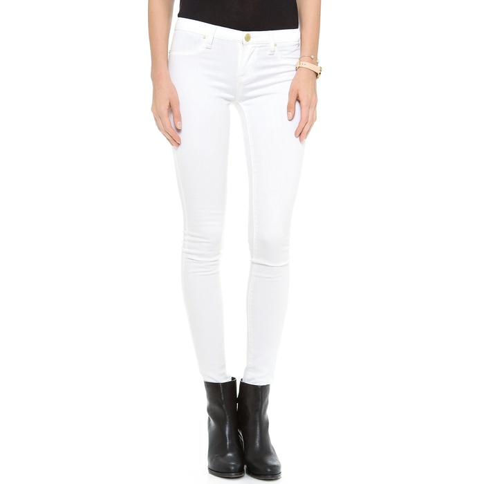 Best Your Guide To This Summer's Best White Jeans - Blank Denim Spray on Jeans in White Lines