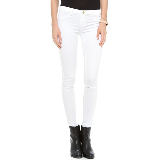Best White Skinny Jeans - Blank Denim Spray on Jeans in White Lines