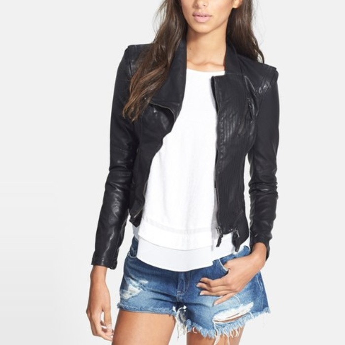 Mary Powers of Miss Mary Powers - BLANKNYC Faux Leather Jacket