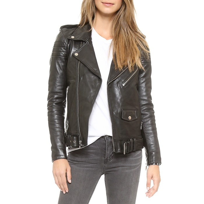Best Moto Jackets - BLK DNM Motorcycle Jacket With Quilted Stripes