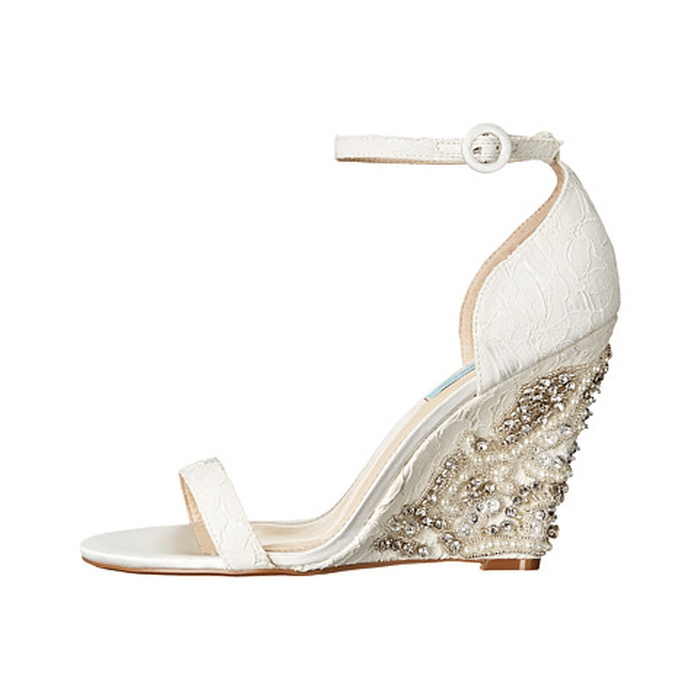 Best Bridal Wedges - Blue by Betsey Johnson Alisa Sandal