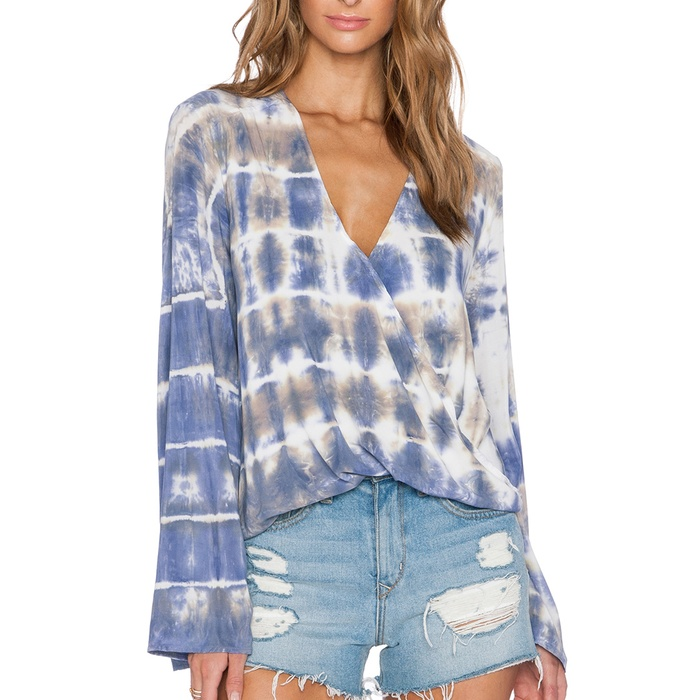 Best The Ten Best in Tie-Dye Fashion - Blue Life Hayley Long Sleeve Top