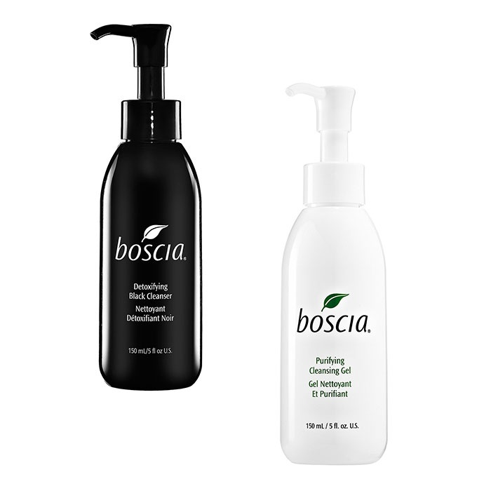 Best Deep Pore Cleansers - Boscia Detoxifying Black Cleanser & Purifying Cleansing Gel