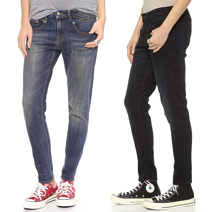 Best Winter Jeans - R13 Boy Skinny Jeans in Black and Vintage Dark Washes
