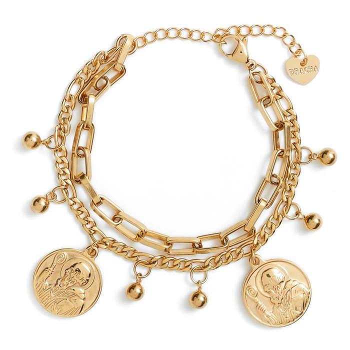 4c5c909ef8e86 Bracha All Saints Coin Charm Bracelet