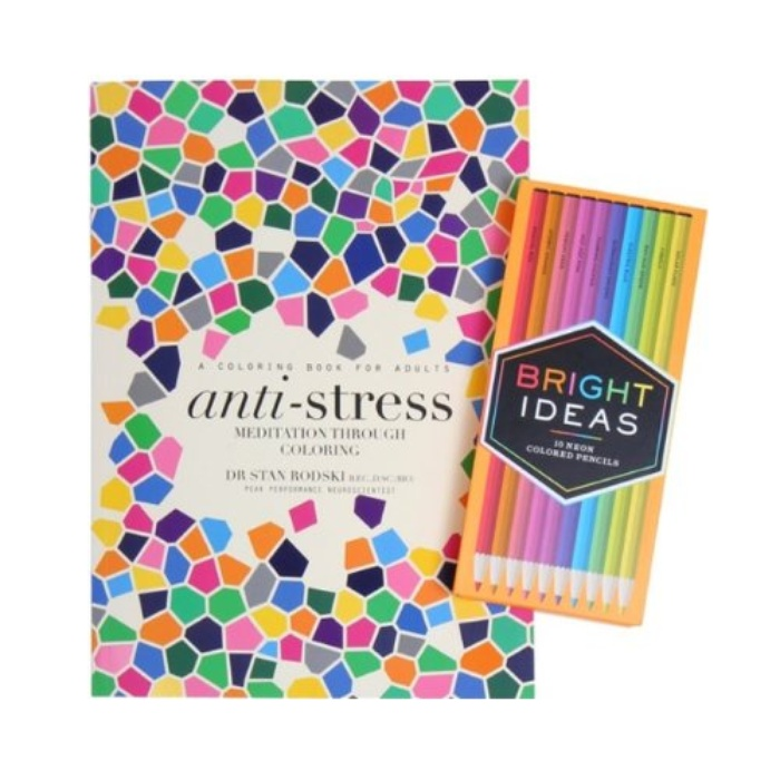 Best Oprah's Favorite Things - Bright Ideas Neon Colored Pencils and Meditation Through Coloring Book