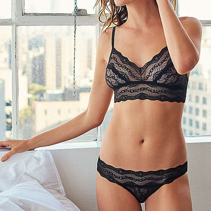 Best Lingerie Under $100 - B.Tempt'd by Wacoal Lace Kiss Bralette and Thong