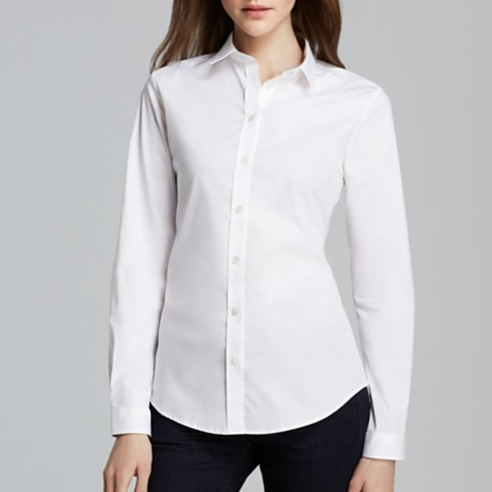 White Button Down Shirt For Women
