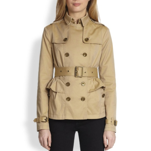Best Trendy Trench Coats - Burberry Brit Leominster Peplum Trench