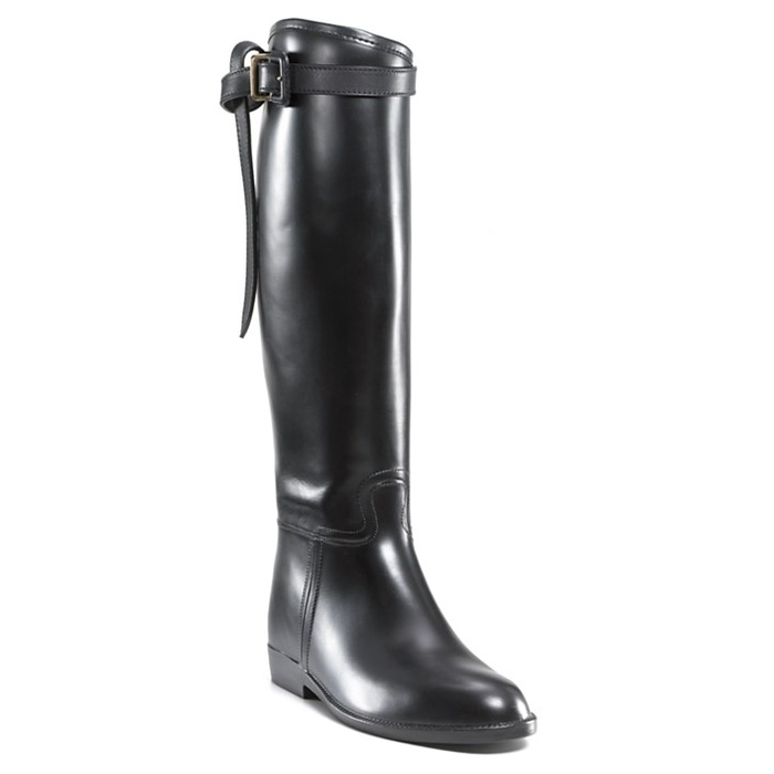 Best Riding Boots Under $500 - Burberry Flat Riding Rain Boots