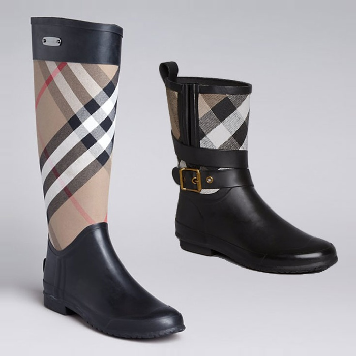 Best Rain Boots - Burberry Holloway Mid Buckle & Clemence Check Rainboots