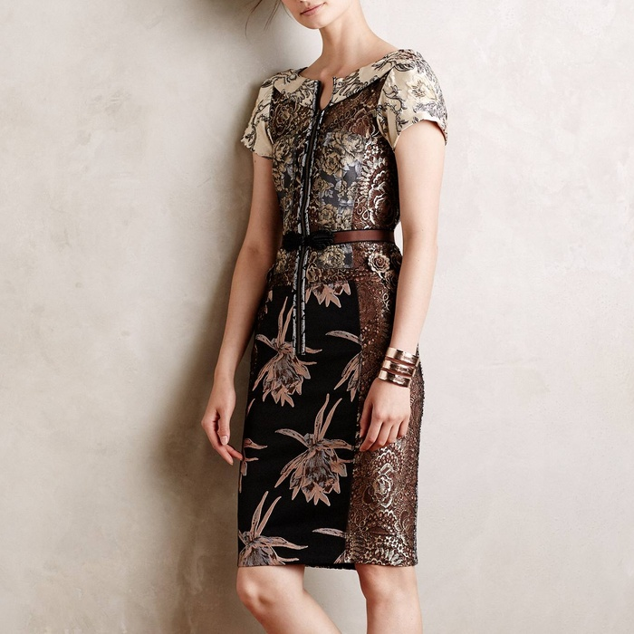 Best Lace Dresses - Byron Lars Embroidered Brocade Dress