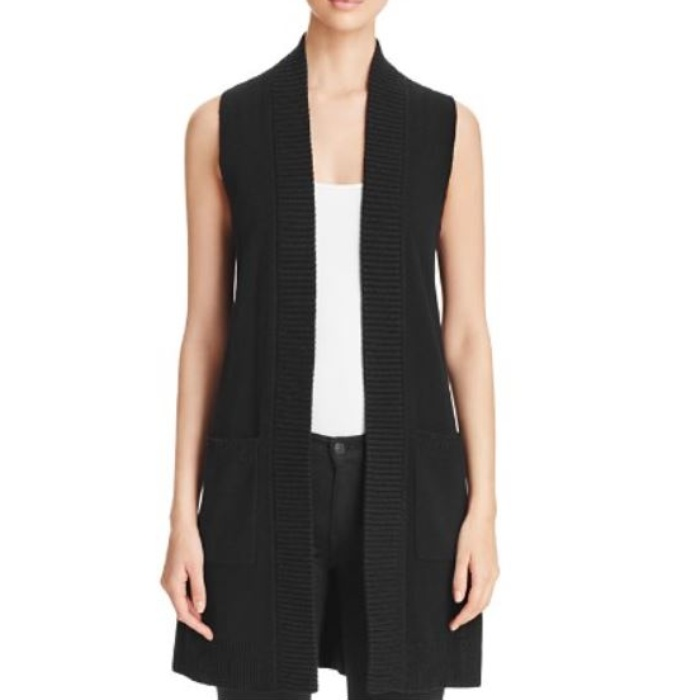 Best Fashion Vests - C by Bloomingdale's Long Open Cashmere Vest