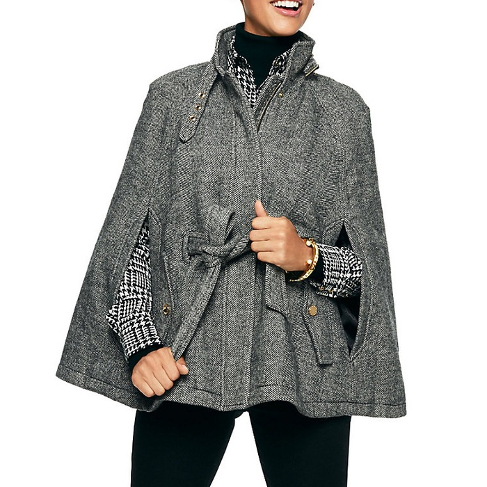 Best Fall Capes - C. Wonder Herringbone Belted Cape