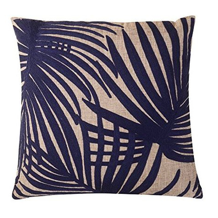 Best Throw Pillows Under $50 - Calla Angel Embroidered Palm Leaf Throw Pillow