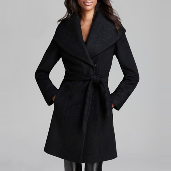 Best Wool Coats Under $500 - Calvin Klein Coat - Lux Boiled Wool Wrap