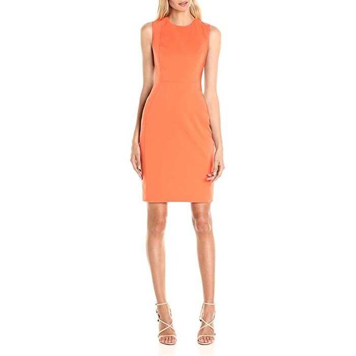 Best Wear to Work Dresses on Amazon under $100 - Calvin Klein Cotton-Blend Sheath Dress