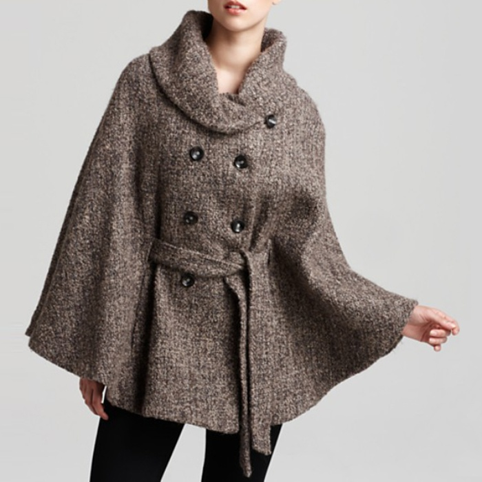 Best Fall Capes - Calvin Klein Tweed Cape