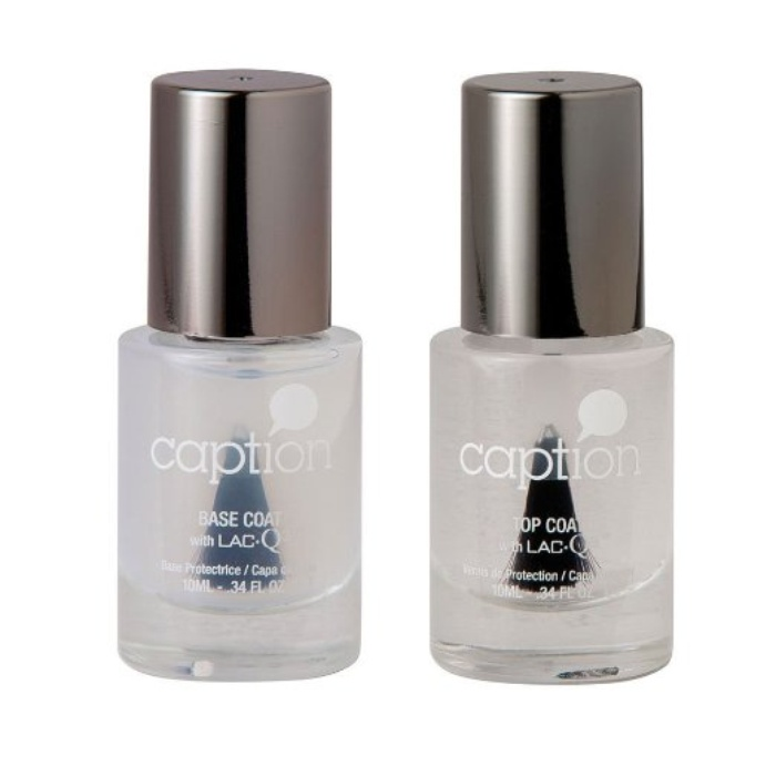 Best Long-Lasting Nail Polishes - Caption Nail Polish Base Coat & Gloss Top Coat Set