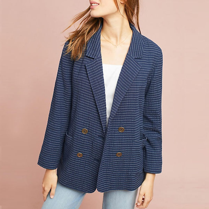 Best Women's Fashion Blazers - Cartonnier Pinstriped Blazer