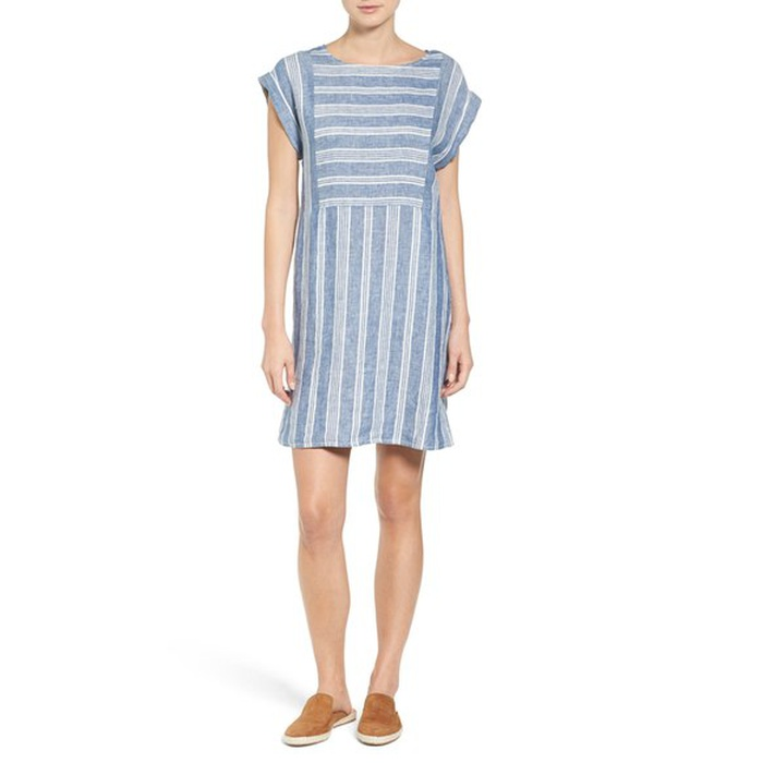 Best Spring Vacation Essentials - Caslon Stripe Linen Shift Dress