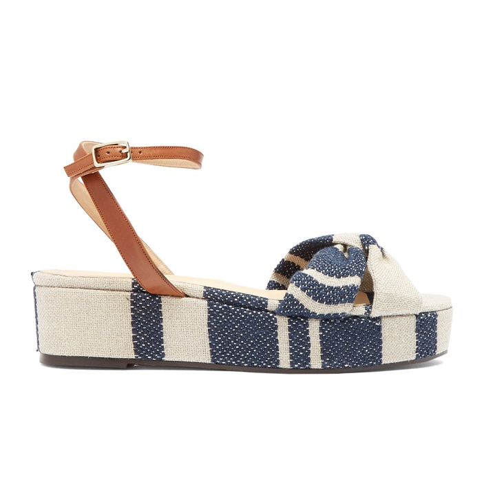 Best Flatform Sandals - Castañer Angela Linen Flatform Sandals