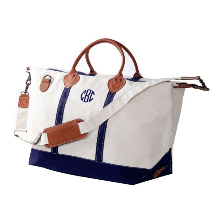 Best Monogrammed Accessories - CB Station Monogrammed Sunshine Satchel