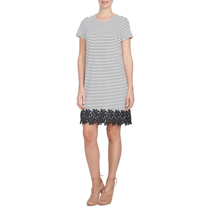 Best Spring Wear to Work Dresses - CeCe Stripe T-Shirt Dress
