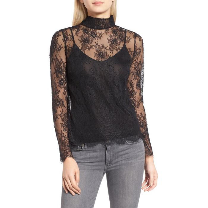 Best Sheer Layering Tops - Chelsea28 Sheer Lace Top