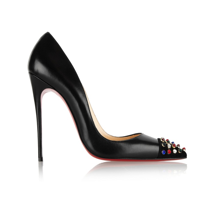 Best Pumps To Splurge On This Fall - Christian Louboutin Cabo 120 embellished leather pumps