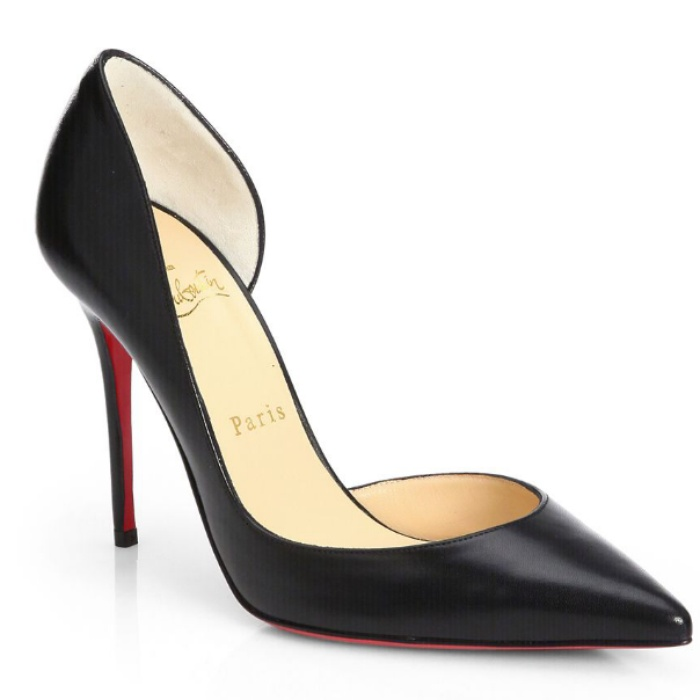 Best D'Orsay Pumps - Christian Louboutin Iriza Leather d'Orsay Pumps