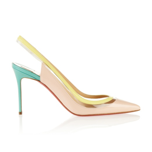 Best Pastel Shoes - CHRISTIAN LOUBOUTIN Paulina 85 patent-leather and PVC pumps