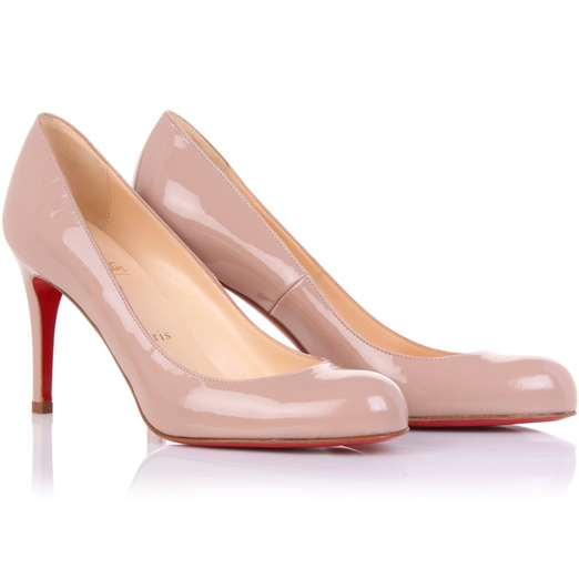 Best Nude Pumps - Christian Louboutin Simple 85 Patent Pumps