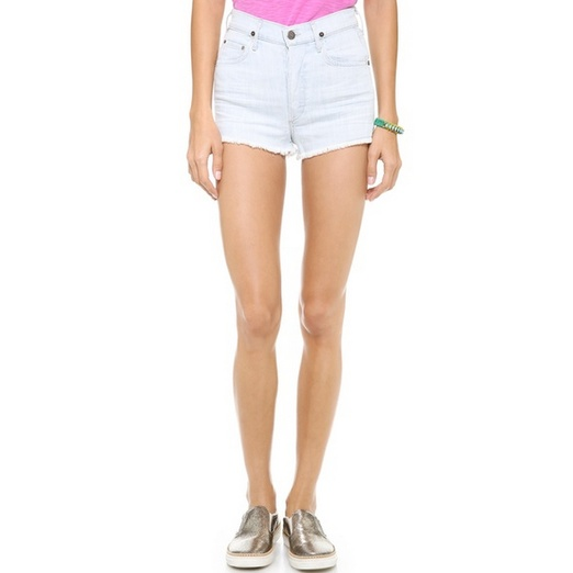 Best High Waisted Denim Shorts - Citizens of Humanity Chloe High Waist Shorts