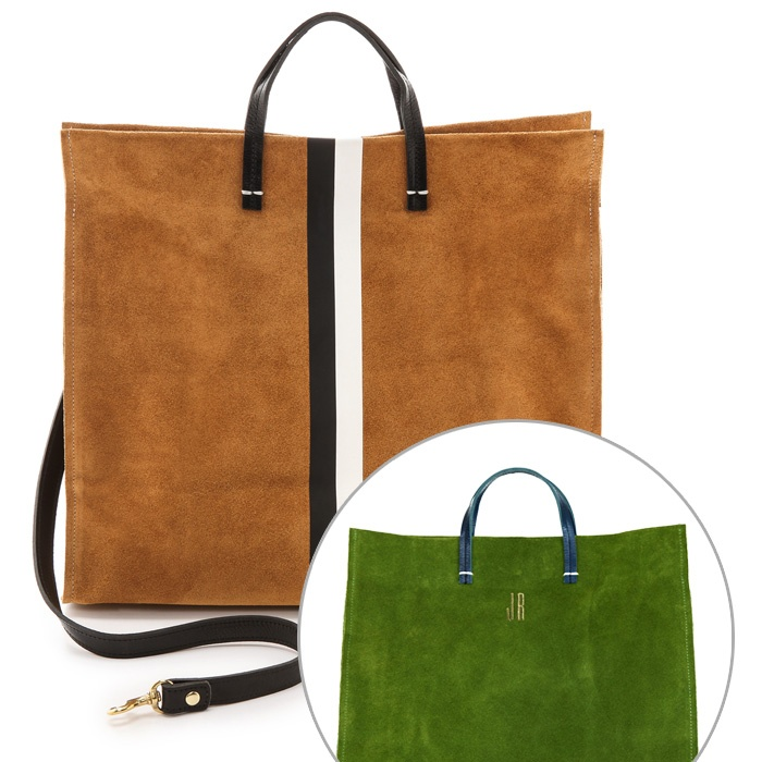 Best Monogrammed Accessories - Clare Vivier Clare V. Simple Tote
