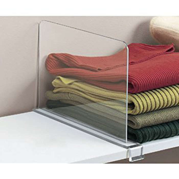 Best Closet Organizers - ClosetMate Beautiful 2 Pack Acrylic Shelf Dividers