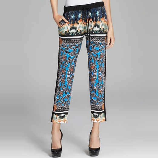 Best Printed Pants - Clover Canyon Arabesque Scarf Drawstring Pants