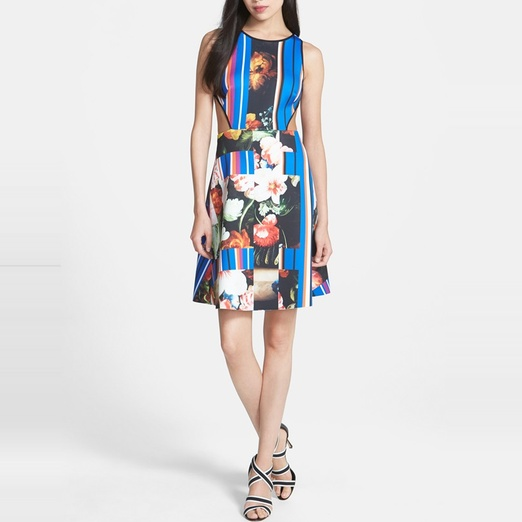 Best Garden Party Dresses - Clover Canyon Grecian Bouquet Cutout Printed Neoprene Dress