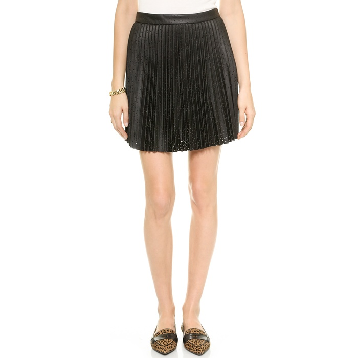 Best Pleated Faux Leather Skirts - Club Monaco Mairin Skirt