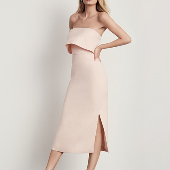 Best Spring Wedding Guest Dresses - C/MEO COLLECTIVE Love Like This Strapless Dress