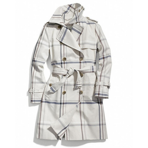Best Trendy Trench Coats - Coach Tattersall Long Trench