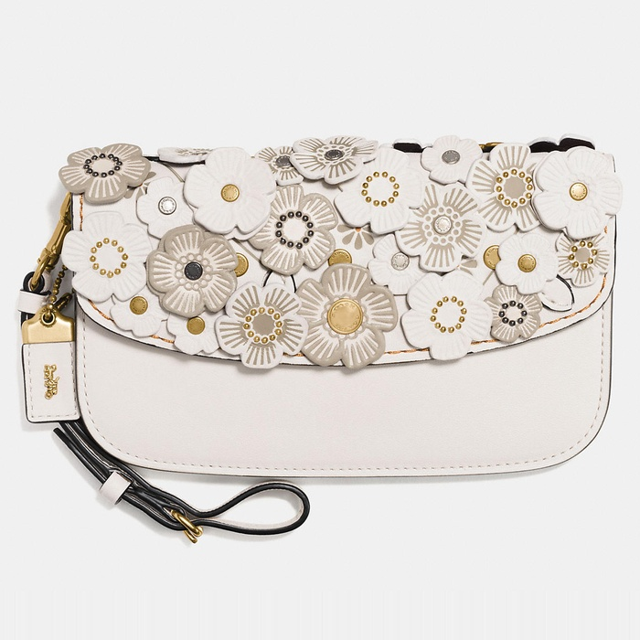 Best Statement Clutches - Coach Tea Rose Small Leather Clutch