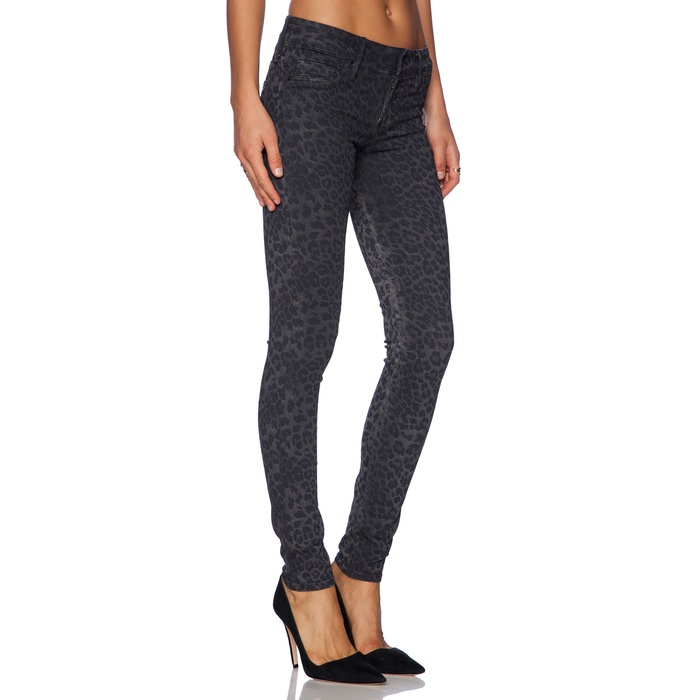 Best Winter Jeans - Black Orchid Coated Leopard Skinny