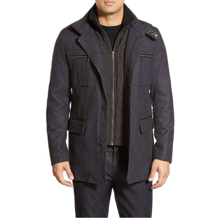 Best Men's Winter Coats - Cole Haan Wool Blend Jacket