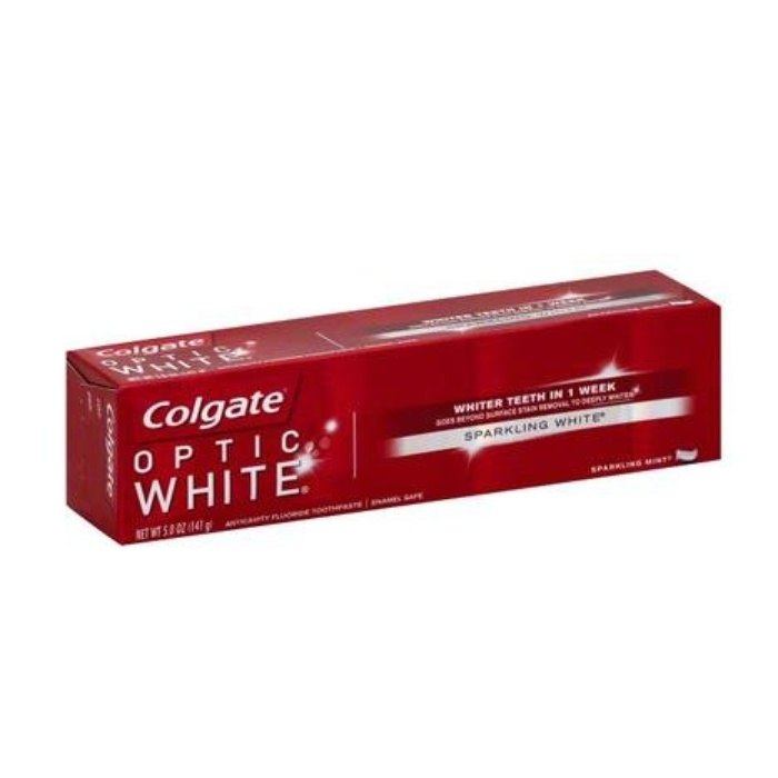 Best Teeth Cleaning & Whitening Products - Colgate Optic White Toothpaste Sparkling Mint