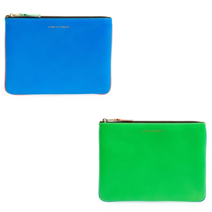 Best Best Clutches & Small Leather Accessories - Comme des Garcons Neon Leather Pouch