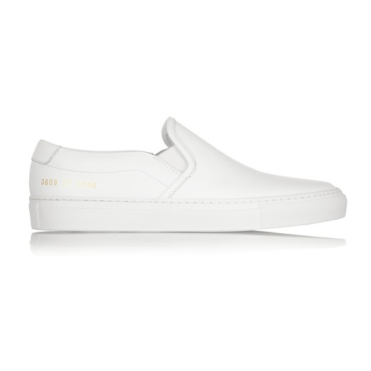 Best Stylish White Sneakers - Common Projects Leather slip-on sneakers
