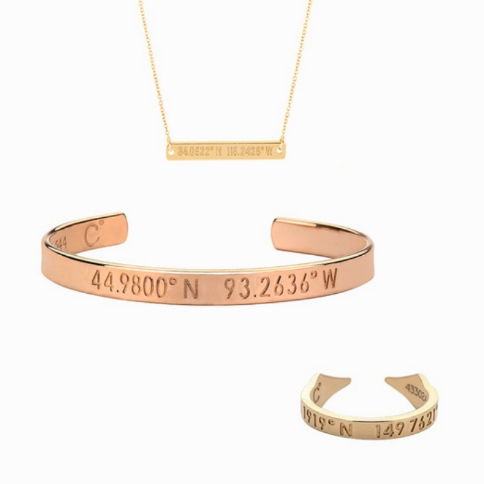 Best For the Frequent Flyer - Coordinates Collection Necklace, Bracelet and Ring