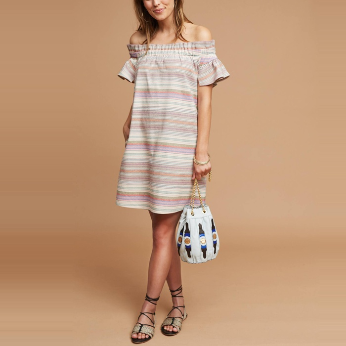 Best Casual Off The Shoulder Dresses - Corey Lynn Calter Audrie Textured Off-The-Shoulder Dress