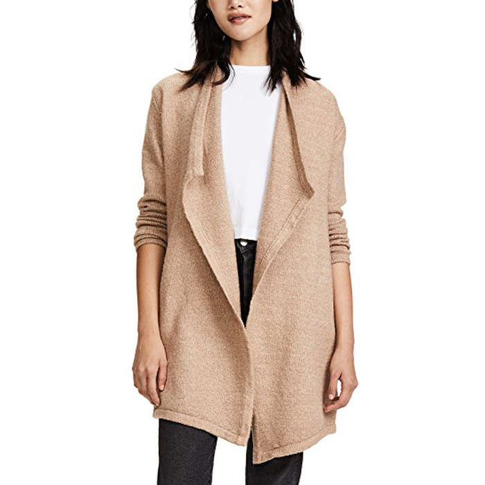 clothing natural ivory vince draped yak cardigan product gallery lyst drapes wool in drape ribbed
